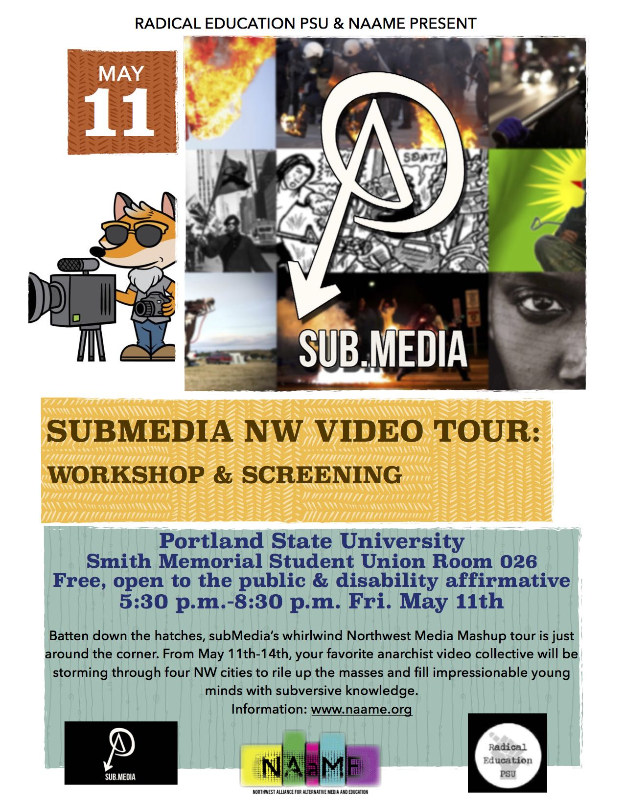subMedia NW Media Mash-Up Tour Spring 2018 – NAAME
